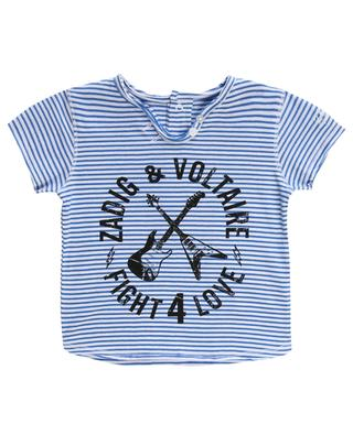 T-shirt marinière en coton imprimé Boxy ZADIG & VOLTAIRE