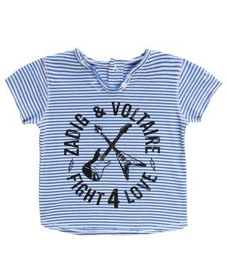 Gestreiftes T-Shirt aus Baumwolle Boxy ZADIG & VOLTAIRE