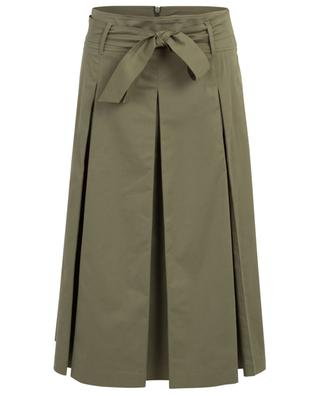 Barbian cotton blend pleated midi skirt IBLUES