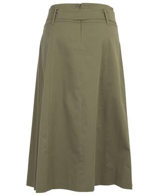 Barbian cotton blend pleated midi skirt IBLUES