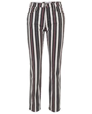 Gestreifte gerade Jeans Le Sylvie Slender Straight FRAME