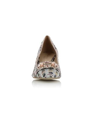 Pia Jewel 60 sparkling tweed pumps with crystals KURT GEIGER LONDON