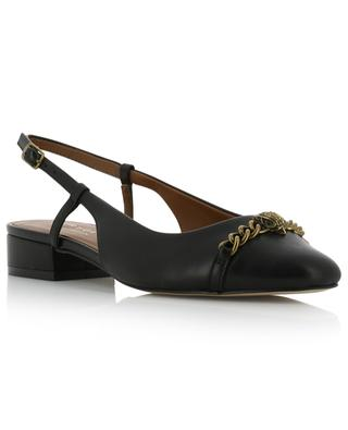 Omera sling-back ballet flats with bird detail KURT GEIGER LONDON