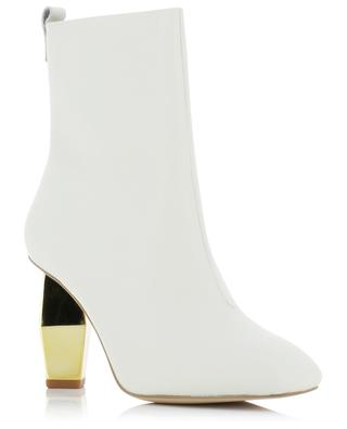 Daxon 80 square toe ankle boots with golden heel KURT GEIGER LONDON