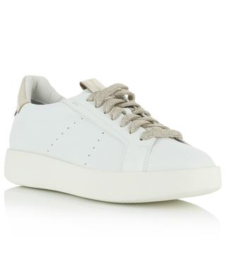 Leather sneakers with golden details SANTONI