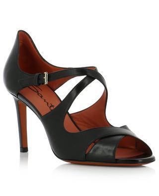 Sandales en cuir à brides croisées SANTONI