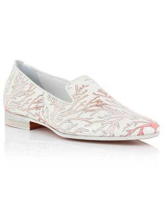 Coral print leather loafers SANTONI