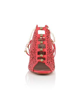 Coral design leather high heel sandals SANTONI
