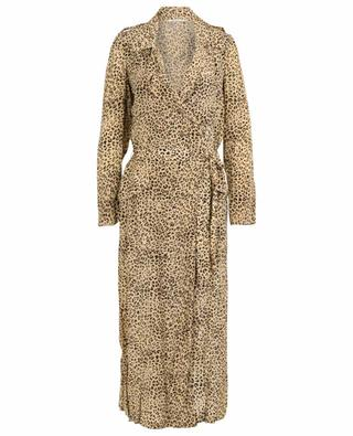 Rosita leopard print trench dress MES DEMOISELLES