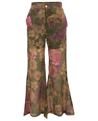 Aster flared floral trousers with Lurex MES DEMOISELLES