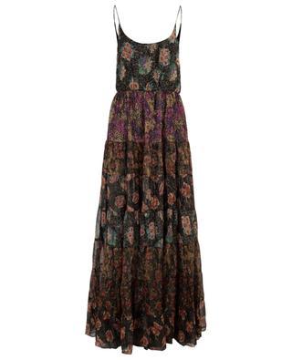 Fabuleuse sleeveless lurex maxi dress with floral print MES DEMOISELLES