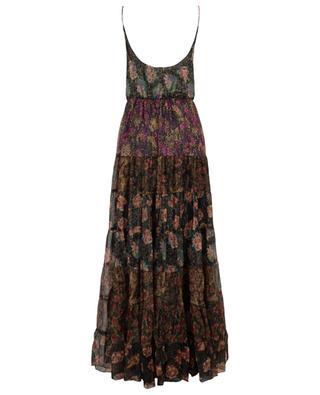 Ärmelloses Maxi-Kleid aus Lurex mit Blumenprint Fabuleuse MES DEMOISELLES