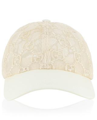 GG embroidered net baseball cap GUCCI