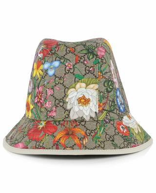 Chapeau en feutre imprimé fleuri GUCCI