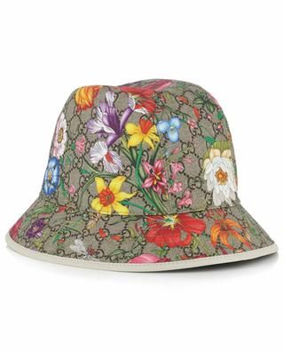 GG Flora printed canvas hat GUCCI
