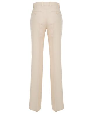 Silk and wool tapered leg trousers GUCCI