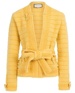 Wool jacket with belt GUCCI
