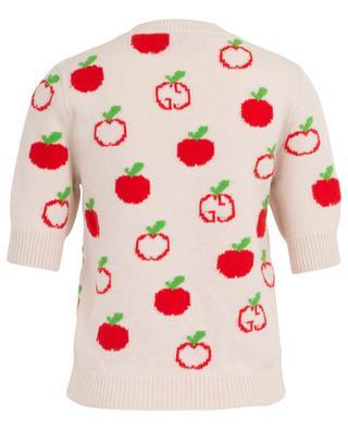 Pull en laine imprimé pomme GUCCI