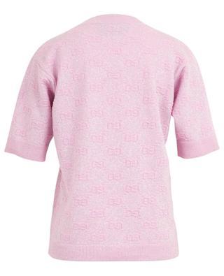 GG Relief sparkling short-sleeved jumper GUCCI