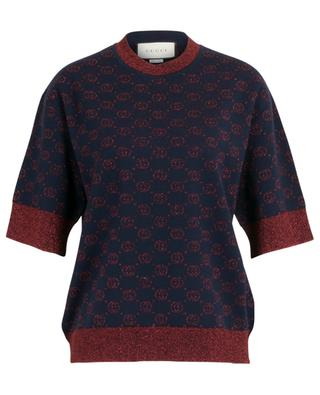 Top jacquard boxy lamé Interlocking G GUCCI