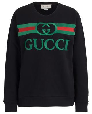 Gucci Logo embroidered oversize sweatshirt GUCCI