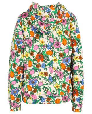 Pop Flora hooded oversize sweatshirt GUCCI