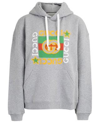 Gucci Logo Star loose hooded sweatshirt GUCCI