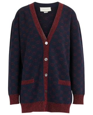 Cardigan oversize boutonné lamé Interlocking GG GUCCI