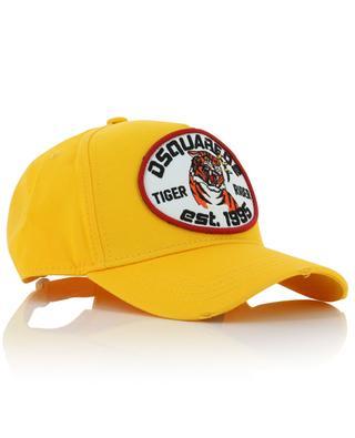 Baseballkappe aus Baumwolle mit Stickerieen und Rissen Tiger Rider DSQUARED2