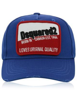 Casquette vieillie à patch Loves Original Quality DSQUARED2