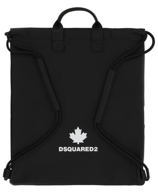 Flat logo printed grained leather backpack DSQUARED2