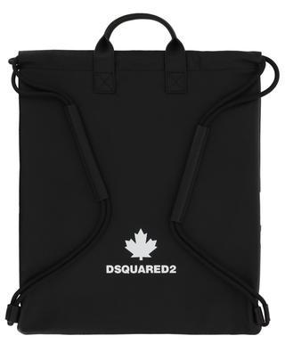 Flacher Rucksack aus genarbtem Leder mit Logo-Print DSQUARED2
