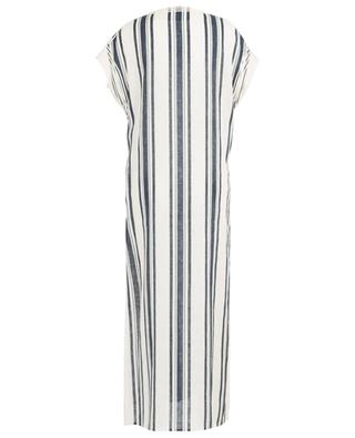 Awning Stripe embroidered striped caftan TORY BURCH