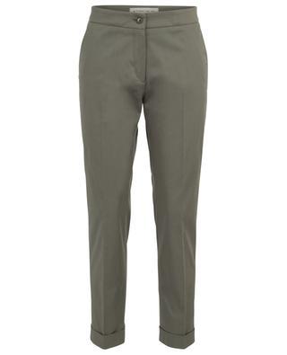 Pantalon droit raccourci en sergé de coton stretch ETRO
