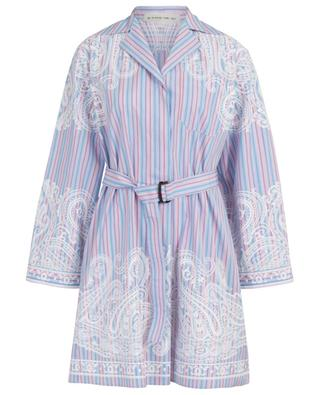 Printed cotton shirt dress with stripes ETRO