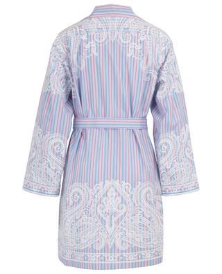 Gestreiftes Hemdkleid aus Baumwolle ETRO