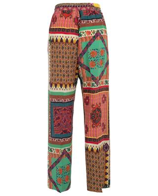 Breezy wide-leg silk trousers with patchwork print ETRO