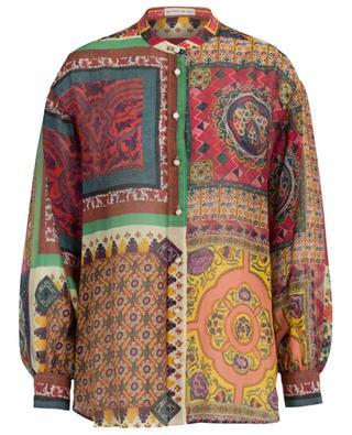 Print cotton and silk gauze shirt ETRO