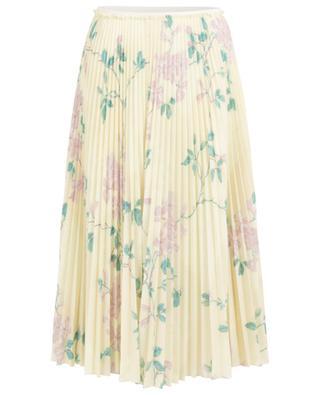 Jasmine Vines midi-length floral pleated skirt RED VALENTINO