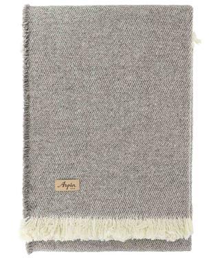 Gefranstes Plaid aus Wolle Cramat ARPIN
