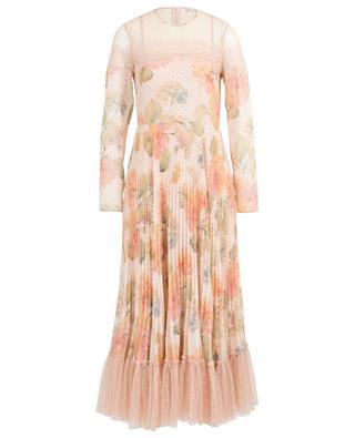 Langes geblümtes Musselin-Kleid Evanescent Flowers RED VALENTINO