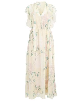 Langes geblümtes Kleid aus Musselin Jasmine Vines RED VALENTINO