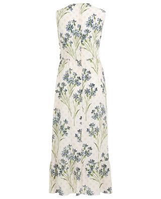 Cornflower long printed sleeveless silk dress RED VALENTINO