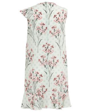 Cornflower sleeveless printed silk mini dress RED VALENTINO