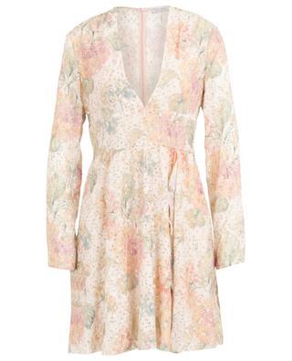 Kurzes Kleid aus Viskose-Lamé Evanescent Flowers RED VALENTINO