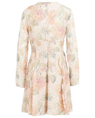 Robe courte en viscose lamée Evanescent Flowers RED VALENTINO