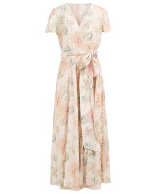 Langes Lamé-Kleid in Wickeloptik Evanescent Flowers RED VALENTINO