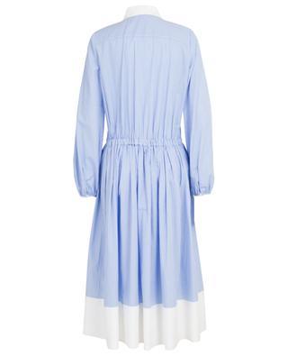 Mittellanges Baumwollkleid mit Streifen N°21