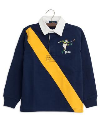 Langärmliges Poloshirt mit besticktem Rugby-Spieler POLO RALPH LAUREN