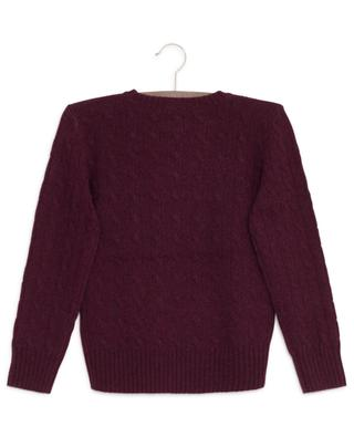 Pony embroidered wool and cashmere cable knit jumper POLO RALPH LAUREN